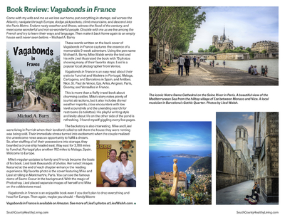 Book Review of Vagabonds In France by Michael A. Barry in South County Healthy Living Magazine Summer 2020